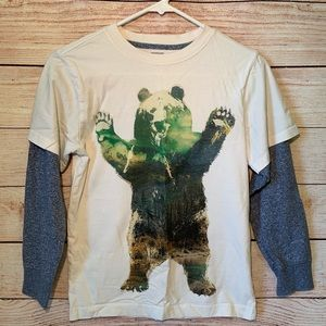 NWOT Gymboree Boys Double-Sleeved Bear Graphic Tee